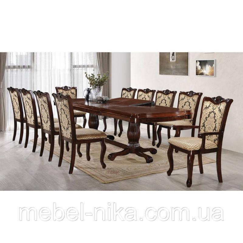 Комплект столовый ЛИССАБОН (Стол+6стульев+2 кресла)