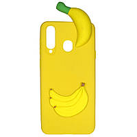 Чехол Cartoon 3D Case для Samsung Galaxy A8s Бананы