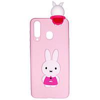 Чехол Cartoon 3D Case для Samsung Galaxy A8s Кролик