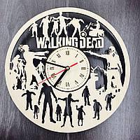 Бесшумные настенные деревянные часы «Ходячие мертвецы», фото 1
