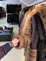 Длинная норковая шуба большого размера в пол от 50 до 60