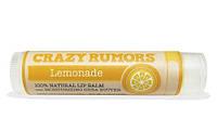 100% натуральный бальзам для губ Crazy Rumors Lemonade Лимонад, 4.2г