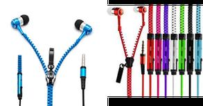 Наушники змейка Zipper Earphones с микрофоном, фото 2