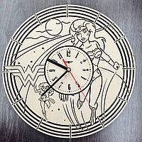 Настенные часы с дизайнерским циферблатом «Чудо-женщина», фото 1