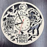 Оригинальные настенные часы из дерева «Игра Престолов», фото 1