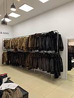 Женская норковая безрукавка жилетка 42 44 размера поперечка коричневая