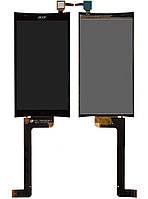 Дисплейный модуль (дисплей + сенсор) для Acer Liquid E700, черный, оригинал