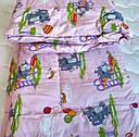 """Одеяло из овечьей шерсти демисезонное """"Слоник"""", фото 5"""