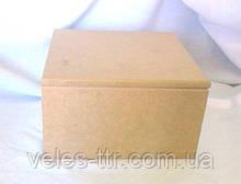 Шкатулка квадратная с петлями 16х16х9 см МДФ заготовка для декора №016