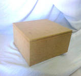 Шкатулка квадратная с петлями 16х16х9 см МДФ заготовка для декора №016, фото 2