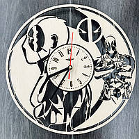 Стильные молодежные настенные часы «Дэдпул», фото 1