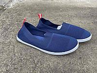 Мокасины мужские синие сеточка Крок