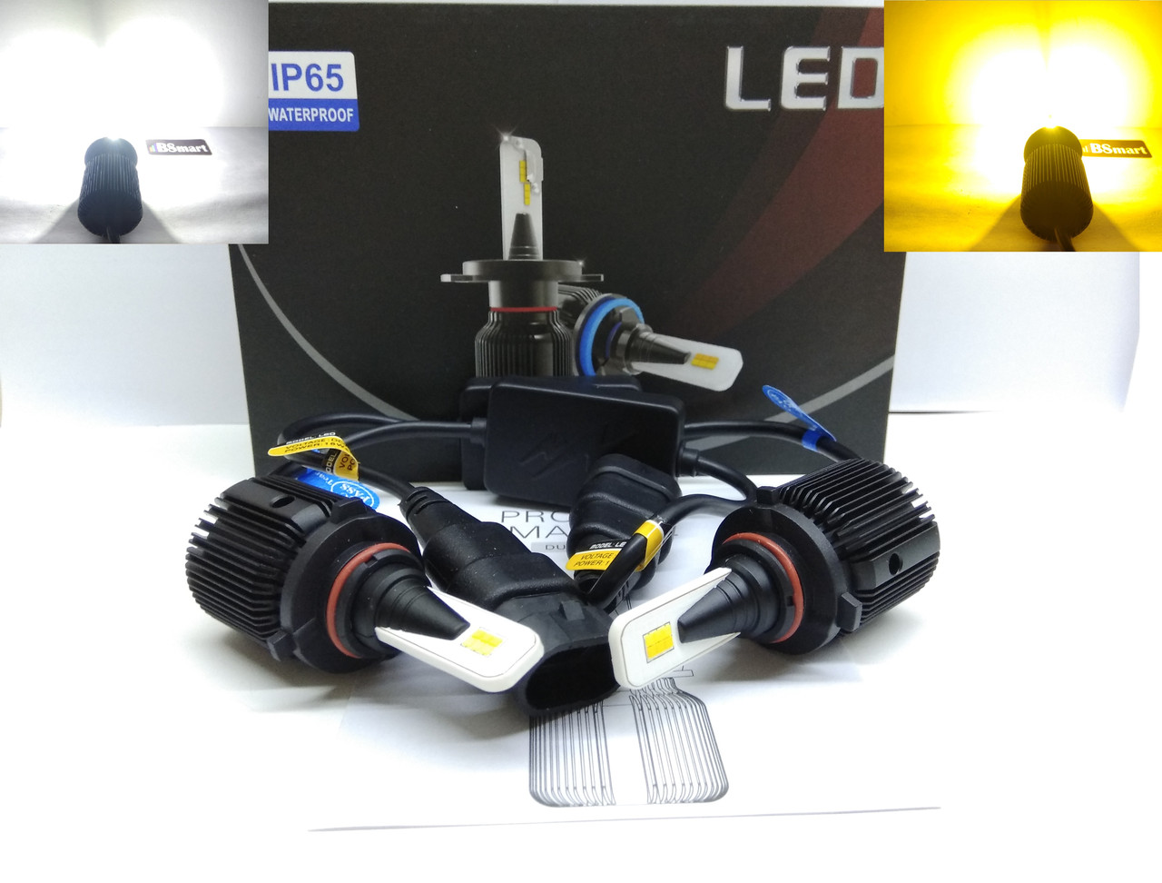 Автолампы LED M1 CSP Dual Color, HB4(9006), 8000LM, 40W, 9-32V