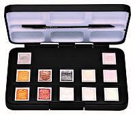 Набор акварельных красок VAN GOGH Metallic & Interference Colours 12 кювет + кисть 20808640