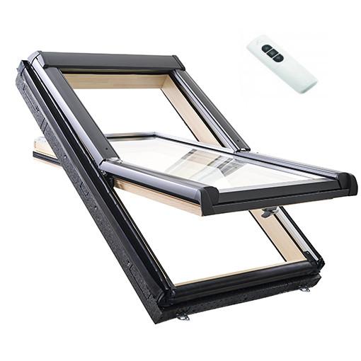 Мансардные окна, дахові вікна Roto Designo R45 Tronic