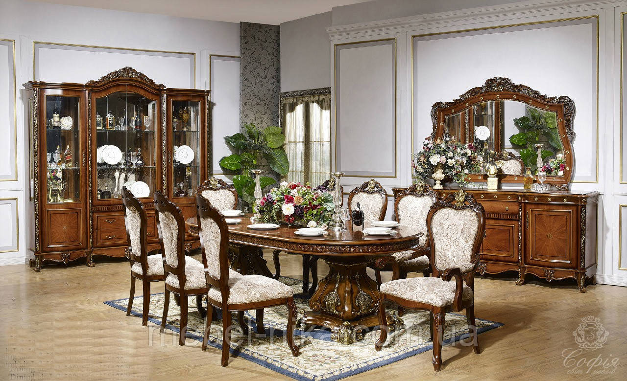 Столовий комплект ПАРИЖ (Стіл +6стульев+2 крісла