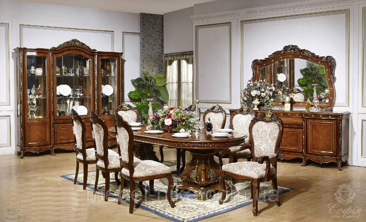 Столовый комплект ПАРИЖ (Стол +6стульев+2кресла