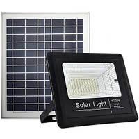 Світлодіодний прожектор 100W з сонячною панеллю, фото 1
