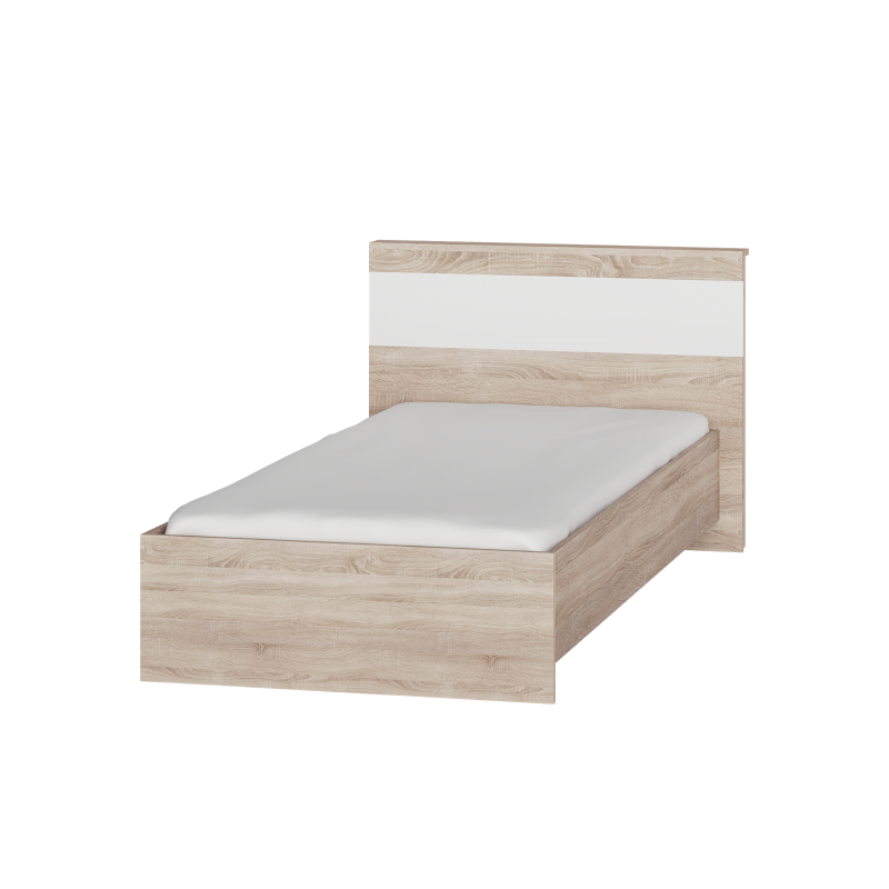 Дитяче ліжко Соната 900 Еверест Дуб сонома/білий