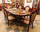 Столовый комплект ПАРИЖ (Стол +6стульев+2кресла, фото 6