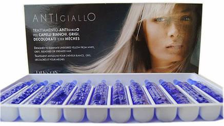 Dikson Trattamento Antigiallo - Антижелтая восстанавливающая процедура для светлых, осветленных, седых и мелированных волос, 12х12 ml, фото 2