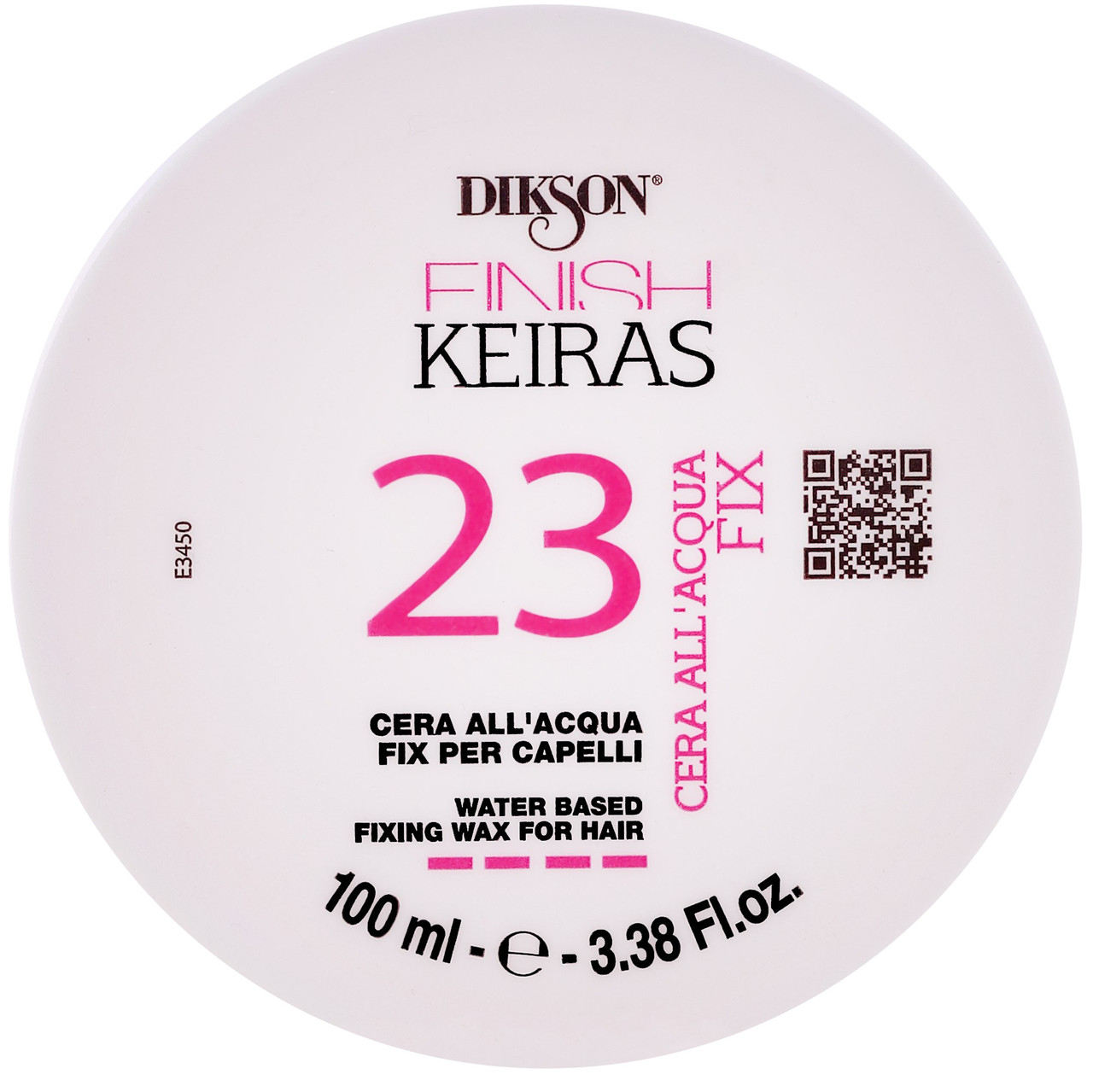 "Dikson Keiras Finish Water Based Fixing Wax For Hair 23 - Воск на основе ароматизированной воды ""Роза"", 100 ml"