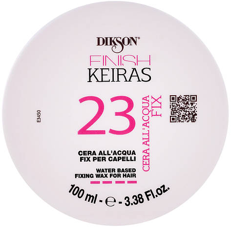 "Dikson Keiras Finish Water Based Fixing Wax For Hair 23 - Воск на основе ароматизированной воды ""Роза"", 100 ml, фото 2"