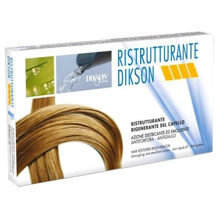 Dikson Ristrutturante - Ампулы для восстановления волос мгновенного действия для очень сухих и поврежденных волос, 12 х 12 ml