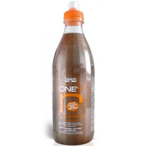 Dikson One's Riparatore - Восстанавливающий шампунь с хитозаном. Шоколад с орехами, 1000 ml