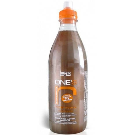 Dikson One's Riparatore - Восстанавливающий шампунь с хитозаном. Шоколад с орехами, 1000 ml, фото 2