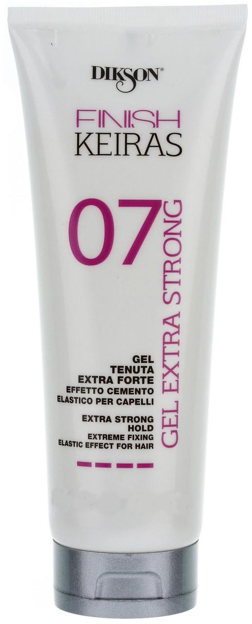 Dikson Finish Keiras Gel Extra Strong Effetto Cemento Elastino - Гель экстрасильной фиксации с эффектом эластичного цемента, 250 ml