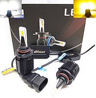 LED автолампы диодные M1 CSP Dual Color, HB3 9005, двухцветная, белый и желтый, 8000LM, 40W, 9-32V, фото 1