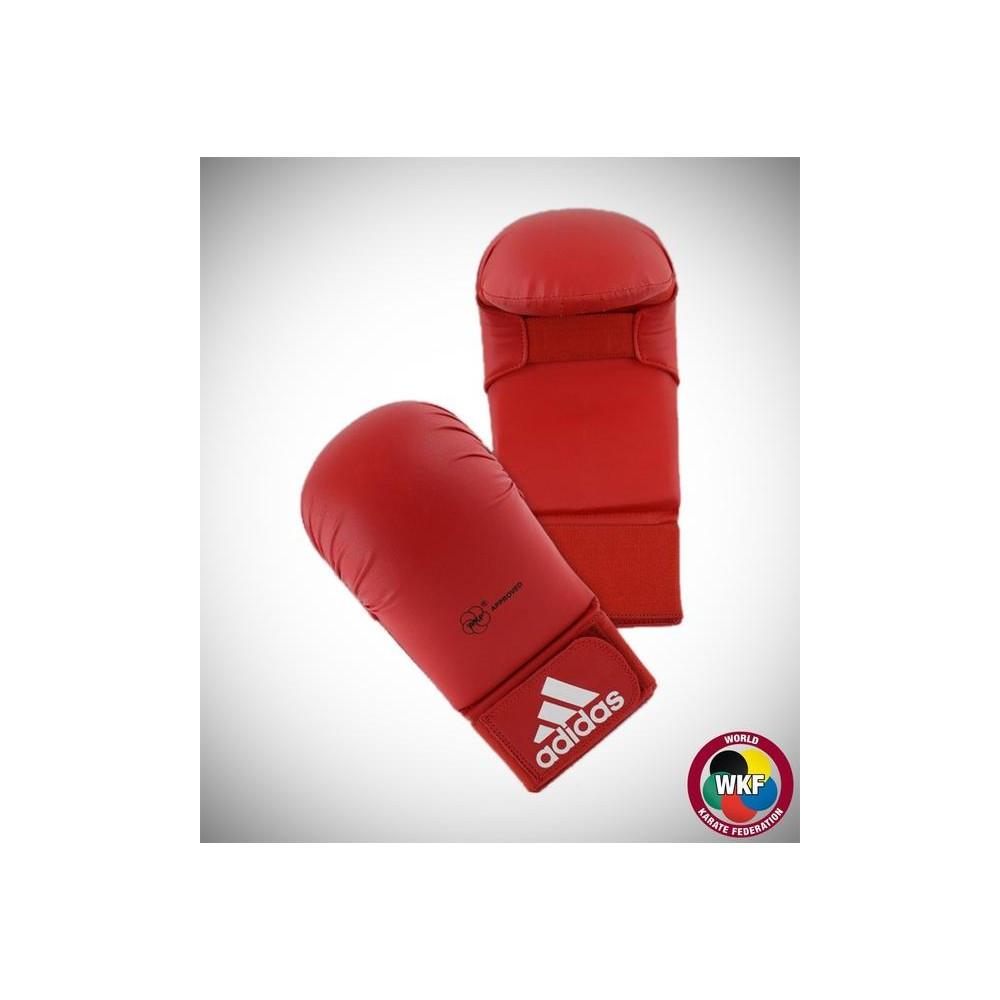 Перчатки для карате Adidas WKF красные