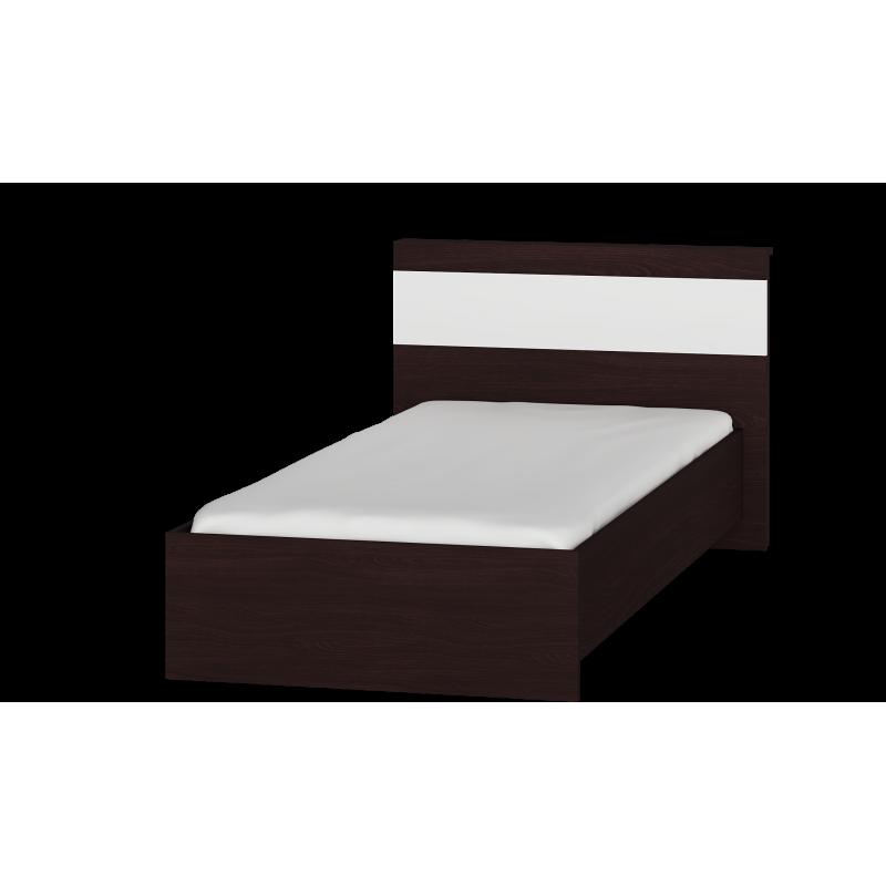 Детская кровать Соната 900  Эверест Венге темный/белый