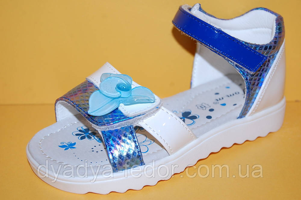 Детские босоножки Том.М Китай 3146 для девочек синий размеры 26_31