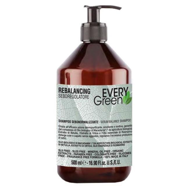 Dikson Every Green Sebum Balance Shampoo - Себорегулирующий шампунь против перхоти, 500 ml