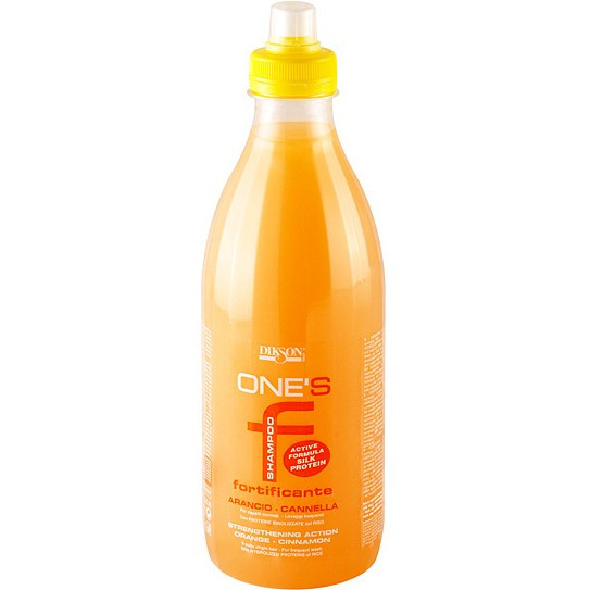 Dikson One's Fortificante - Укрепляющий шампунь с протеинами риса. Апельсин-корица, 1000 ml