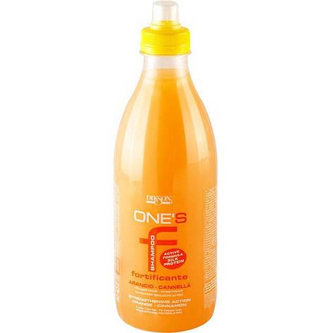 Dikson One's Fortificante - Укрепляющий шампунь с протеинами риса. Апельсин-корица, 1000 ml, фото 2