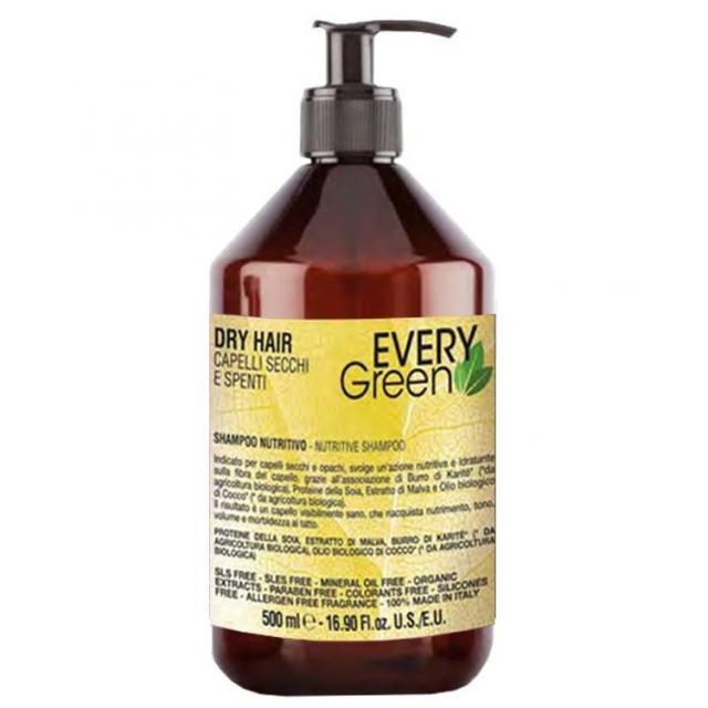Dikson Every Green Dry Hair Nutritive Shampoo - Шампунь для сухих волос, 500 ml