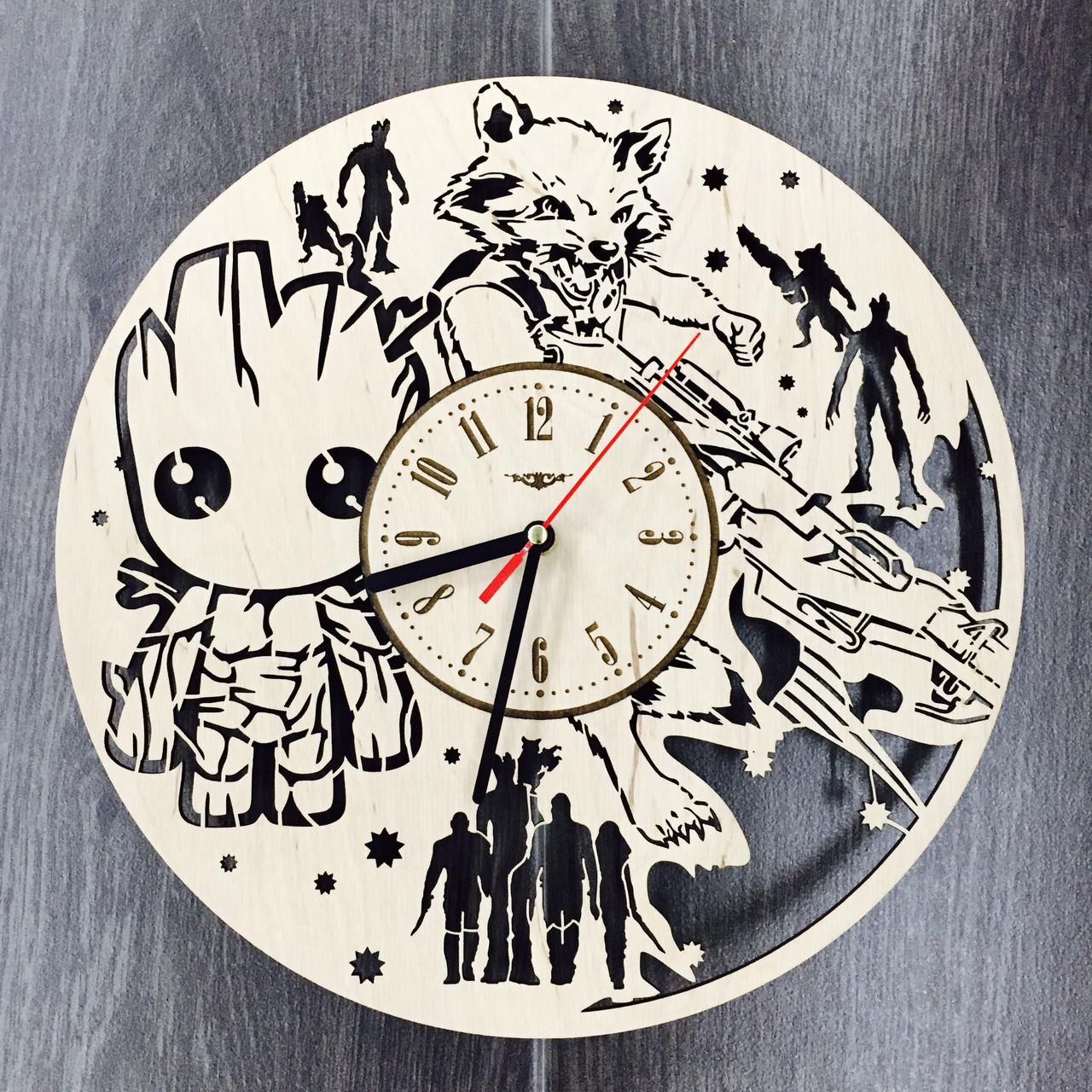 Деревянные детские настенные часы «Стражи Галактики»