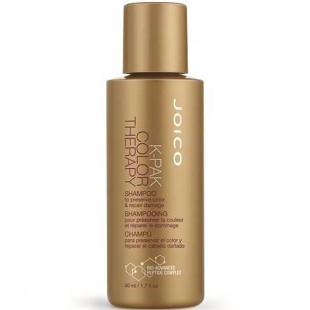 Joico K-Pak Color Therapy Shampoo - Шампунь восстанавливающий для окрашенных волос, 50 ml, фото 2