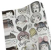 """Бумага для упаковки подарков """"Мальчики и девочки"""", 10 листов"""