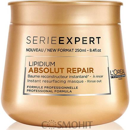 L'Oreal Professionnel Absolut Repair Lipidium Instant Reconstructing Masque 250 мл - Маска для восстановления поврежденных волос, 250 ml, фото 2