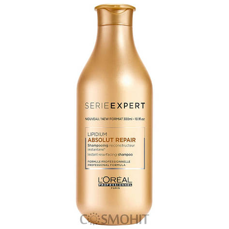 L'Oreal Professionnel Absolut Repair Lipidium Shampooing Reconstructeur Instantane - Восстанавливающий шампунь для поврежденных волос, 300 ml, фото 2
