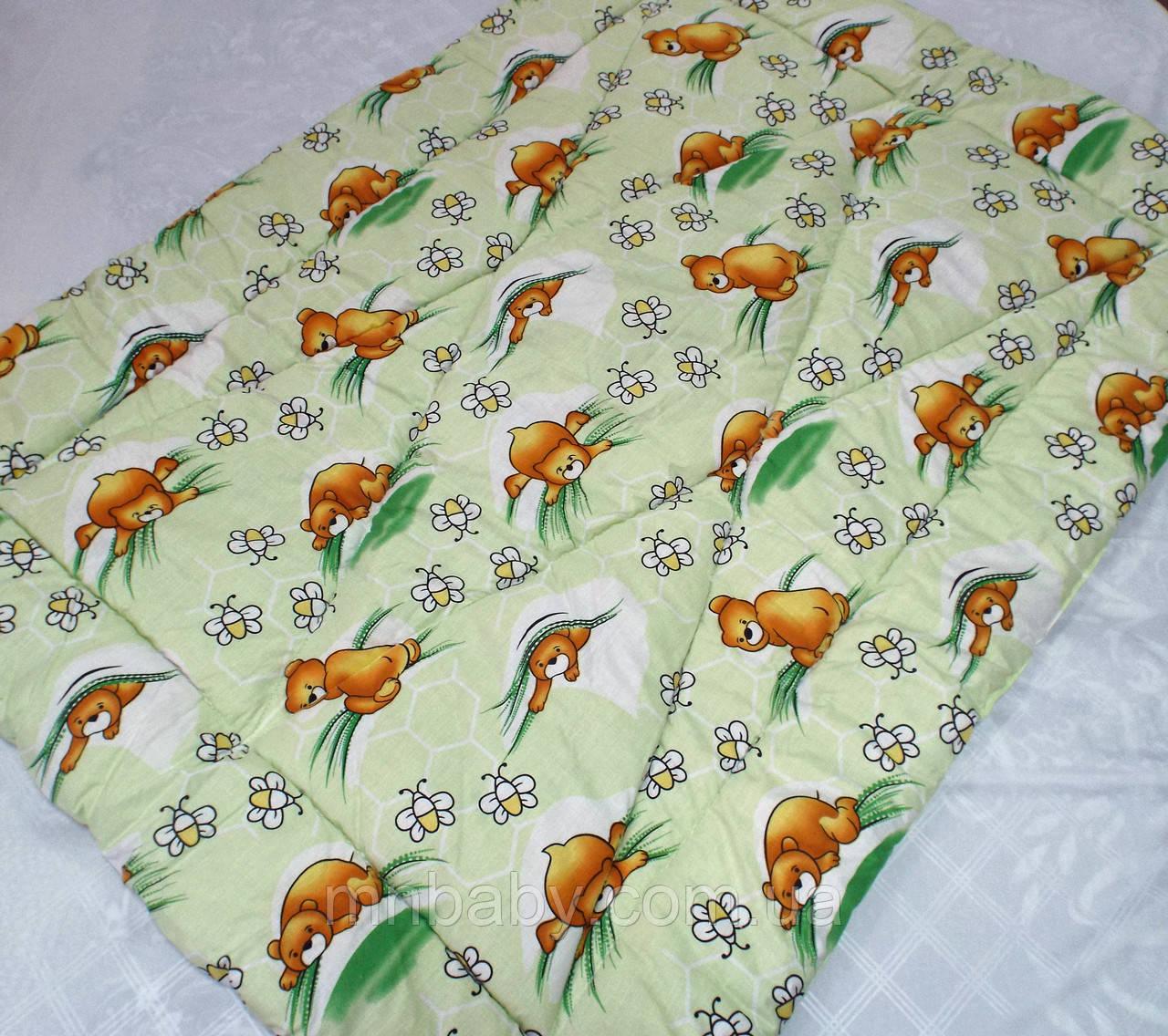 Одеяло из овечьей шерсти демисезонное Мишутка