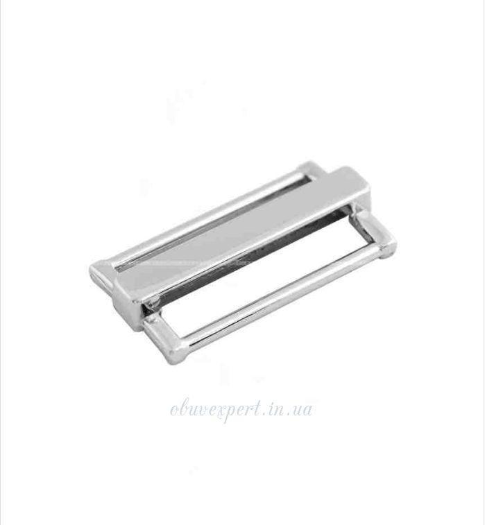 Пряжка-перетяжка  30 мм  Срібло