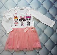 Платье детское р. 92, с сеткой Кукла ЛОЛ