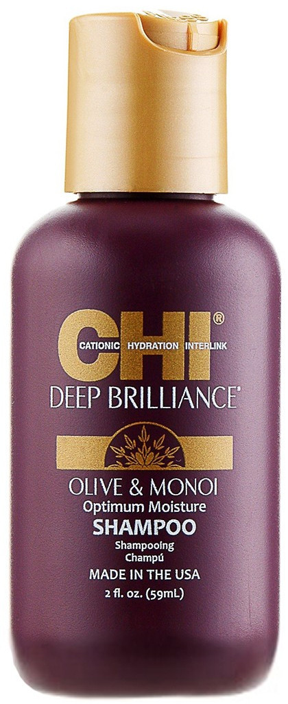 CHI Deep Brilliance Olive & Monoi Optimum Moisture Shampoo - шампунь, 59 ml