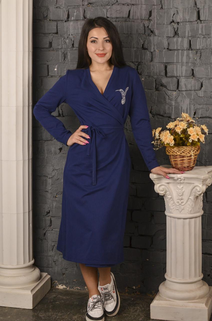 Платье Колибри синее