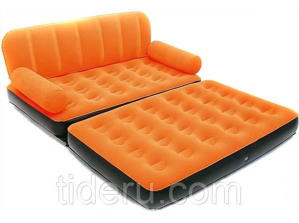 Надувной диван с электронасосом 220В Bestway  67356-1  оранжевый